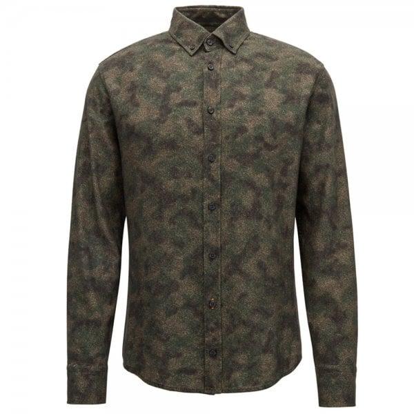 c1cd6378c Boss Casual Mabsoot Shirt in Dark Green Chameleon Menswear