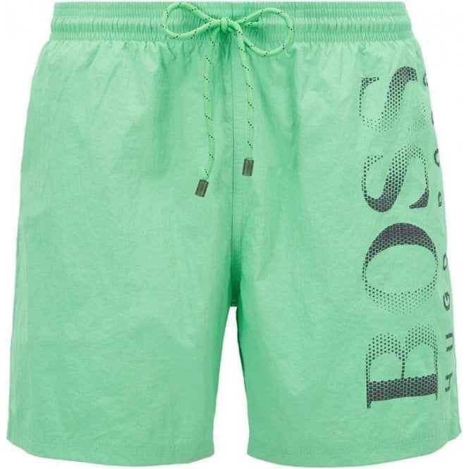 72d5bbc620 Boss Business|Boss Business Octopus Swim Shorts in Green|Chameleon ...