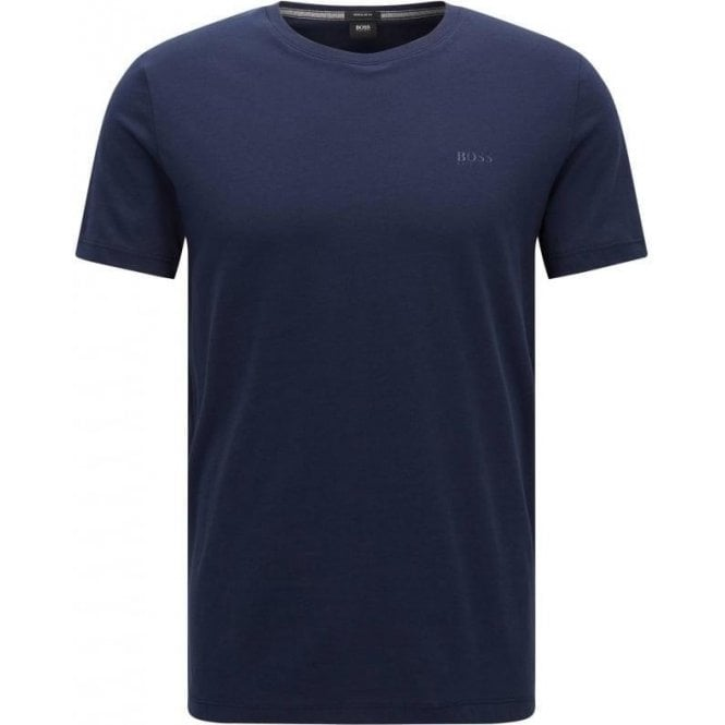 66198879c Boss Black|Boss Black Tiburt 33 T-Shirt in Navy|Chameleon Menswear