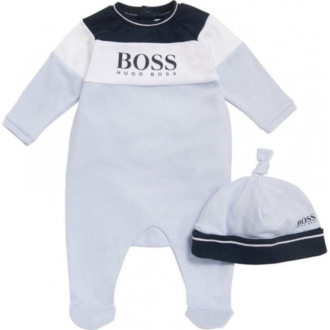 Luxus kaufen hochwertige Materialien einzigartiges Design BOSS* 1-9 Months Baby Sleepsuit and Hat Gift Set in Blue