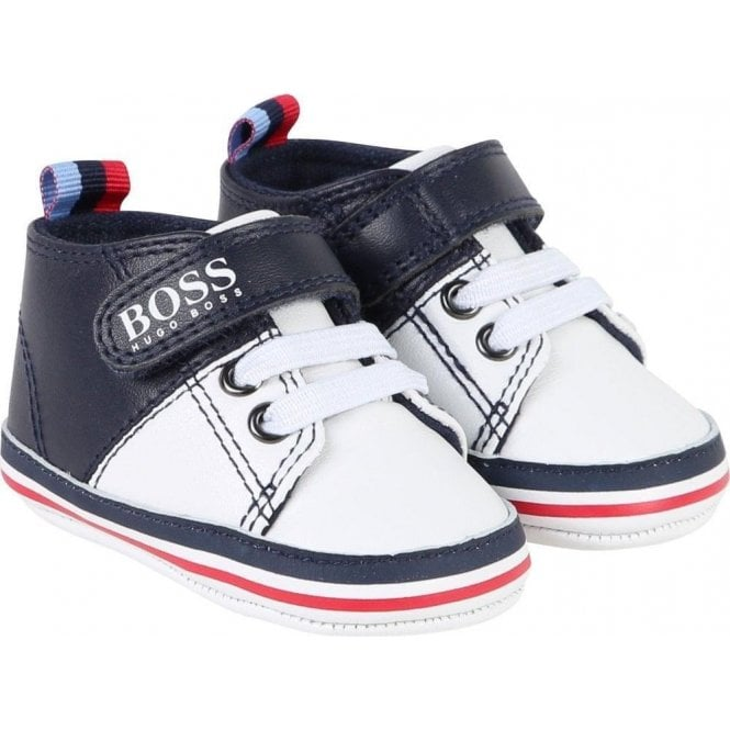 best wholesaler online shop world-wide renown BOSS Boss Kids Baby Boy Trainers in Navy