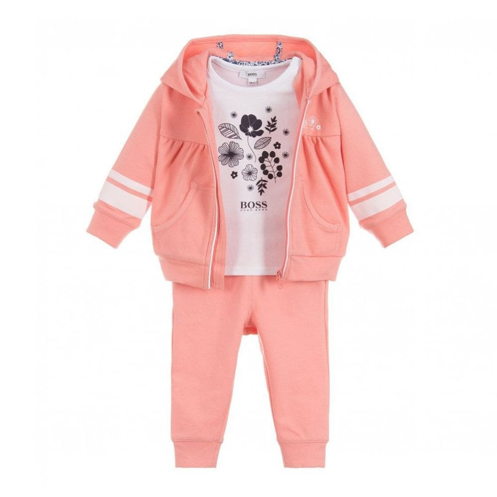 ef2c8503dc9b7 Girls Three-Piece Tracksuit Set in Pink
