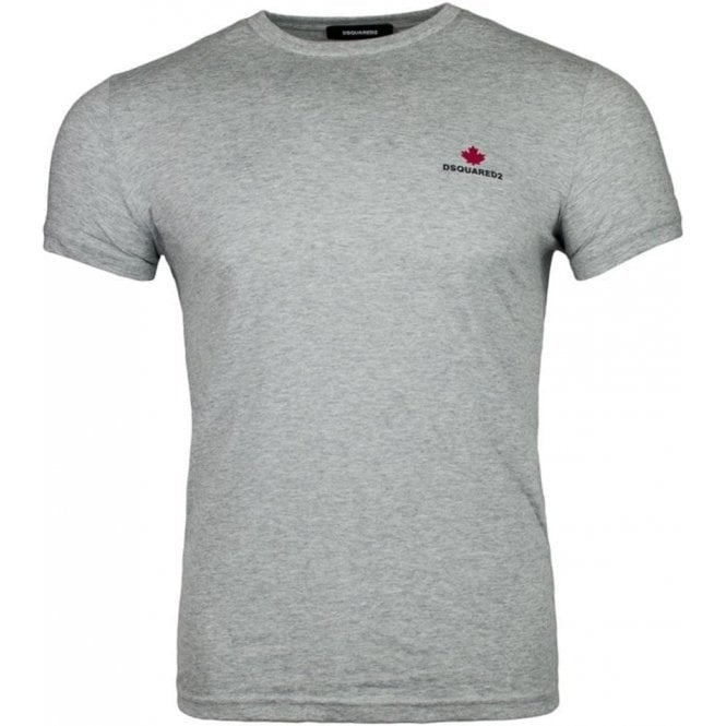 eee0e3d5834c Dsquared2|Dsquared2 Small Logo T-Shirt in Grey|Chameleon Menswear