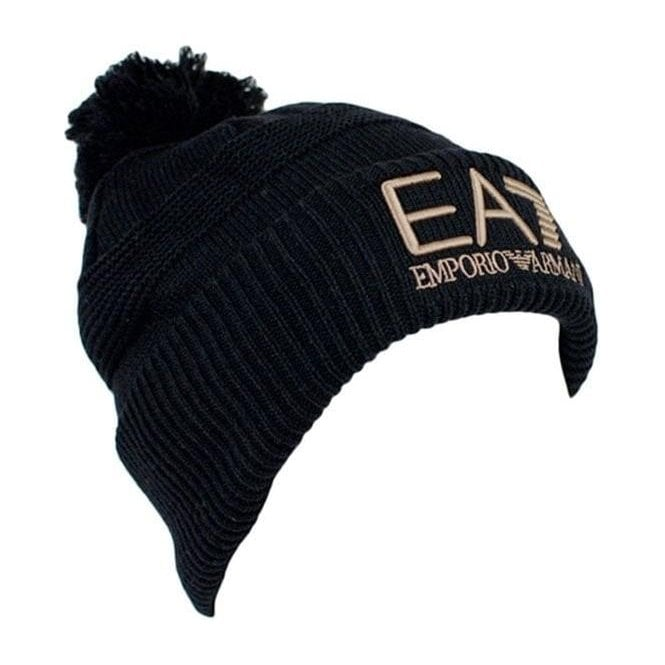 Ea7 Beanie Hat in Black c3733730420