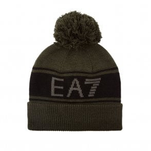 a84e8d4d Beanie Hat in Green & Black