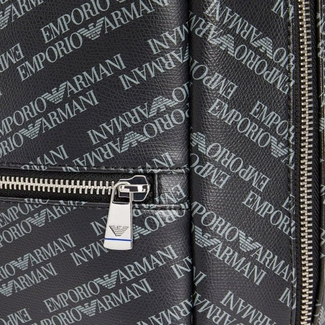 Emporio Armani All-Over Logo Backpack in Grey 017630a783424