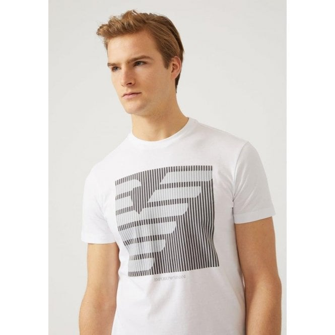 4b602c4da Emporio Armani Emporio Armani Central Maxi Logo T-Shirt in White