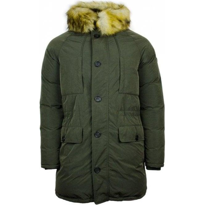 39ecacbcd Emporio Armani Emporio Armani Fur Coat in Green