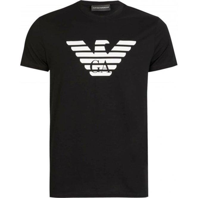 2bed7edd Emporio Armani Emporio Armani GA Eagle T-Shirt in Black Chameleon ...