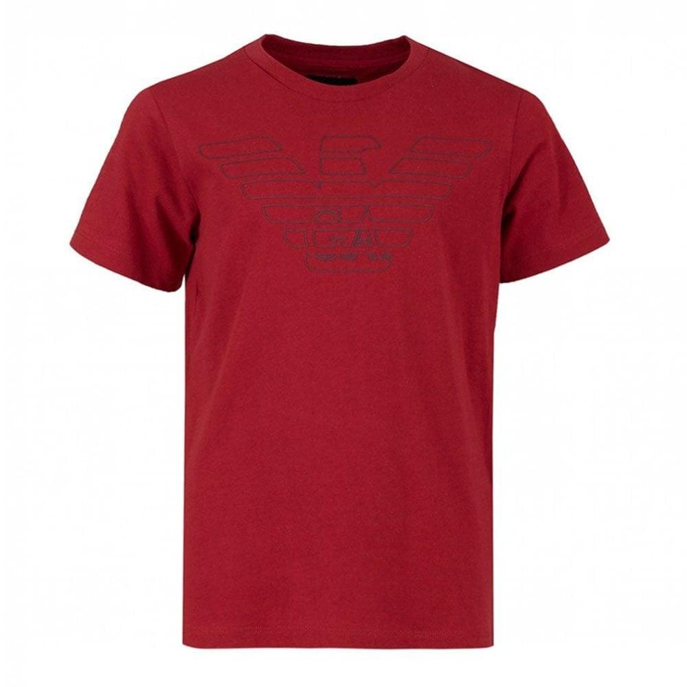 720b55d0 Emporio Kids Black Chest Logo T-Shirt in Red