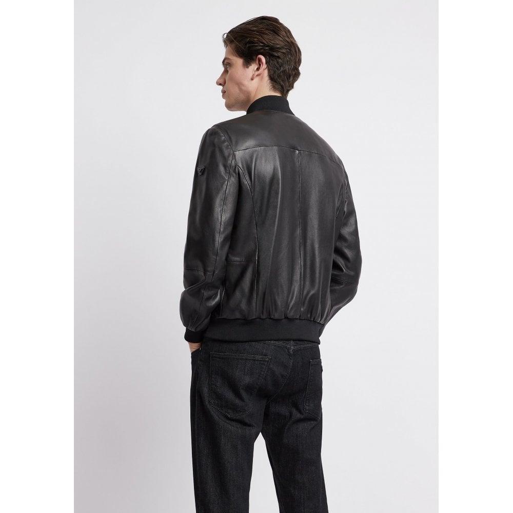 3dece34006 Emporio Armani Leather Jacket