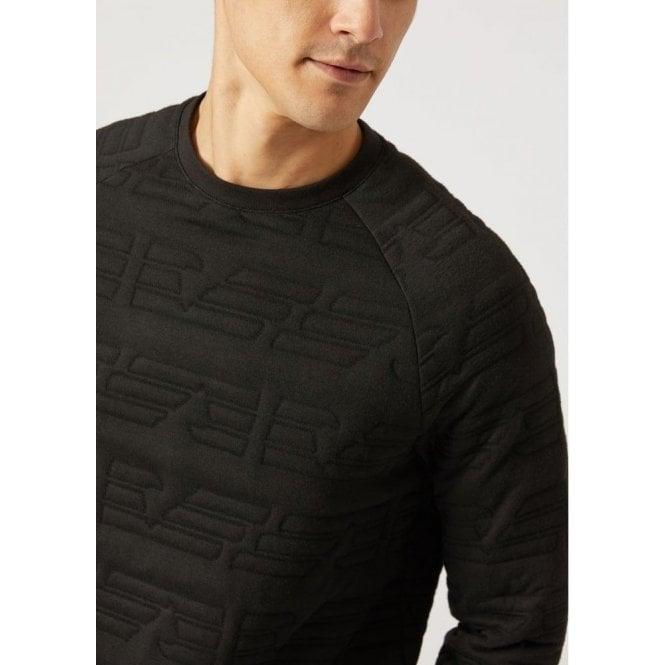 emporio Silk Sweatshirt In Armani Emporio Black Armani Eagle 5wqTfz7