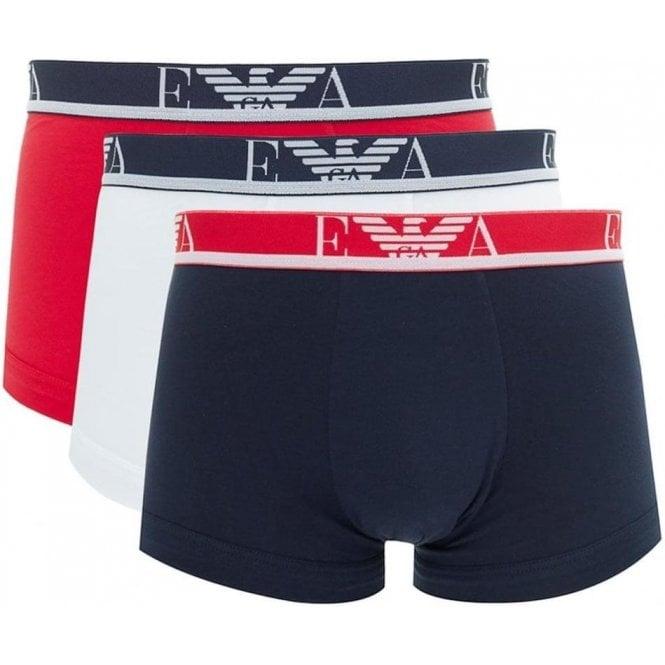 bf8eef18dc5e Emporio Armani|Emporio Armani Underwear in White, Red and Black ...