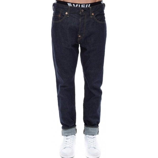 7a6fc6d15112 Evisu Jeans Seagull Skinny Fit Selvedge Denim Dark Wash