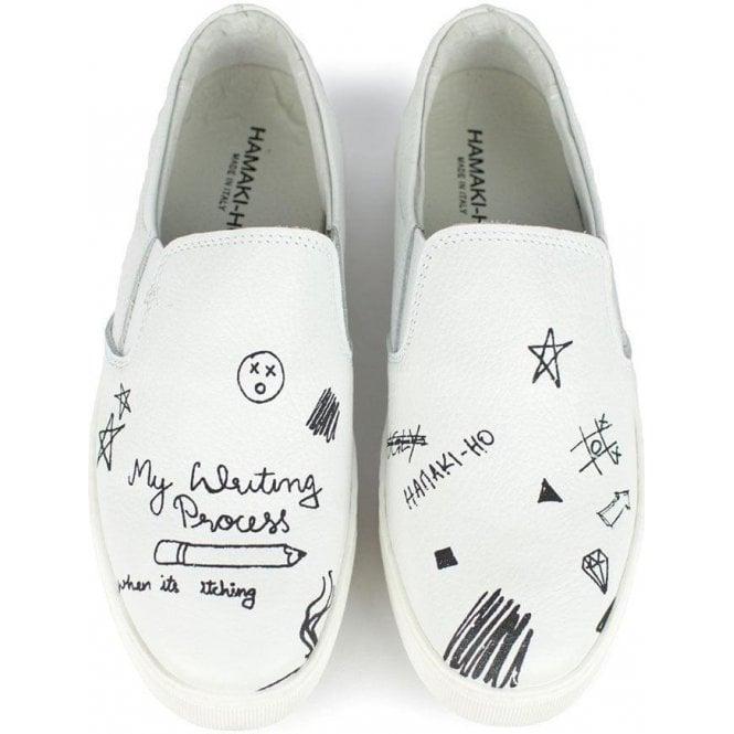 Hamaki Ho Hamaki Ho Slip On Drawing Shoes In White Chameleon Menswear