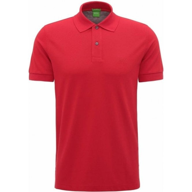 366c2480 Boss Green|Boss Green C-Firenze/Logo Polo Shirt in Red|Chameleon ...