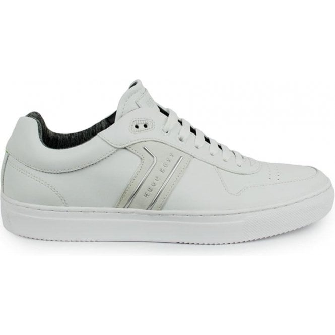 66a69cfe7805 Boss Green|Boss Green Enlight Tenn Trainers in White|Chameleon Menswear