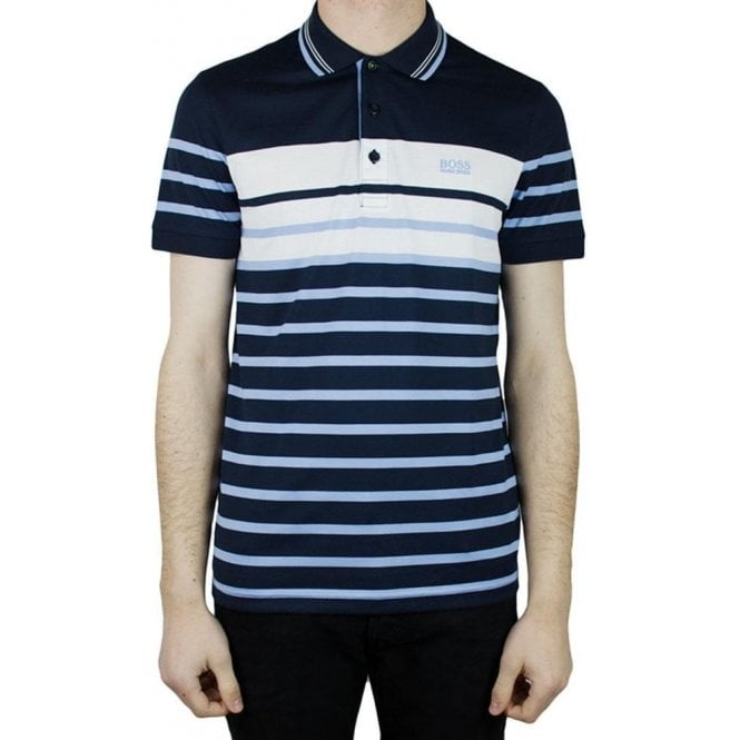 5ebbc3e07 Boss Green|Boss Green Paule 3 Polo Shirt in Navy|Chameleon Menswear