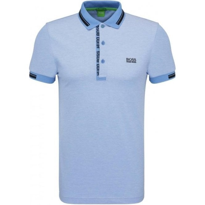 0e4e6bfa Boss Green|Boss Green Paule 4 Polo Shirt in Blue|Chameleon Menswear