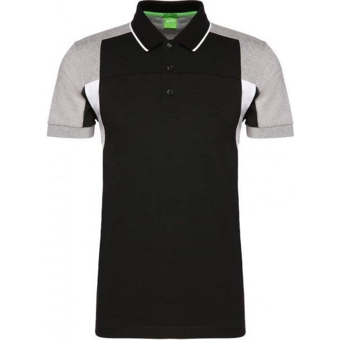 219fd0b00 Boss Green|Boss Green Paule 6 Polo Shirt in Black|Chameleon Menswear