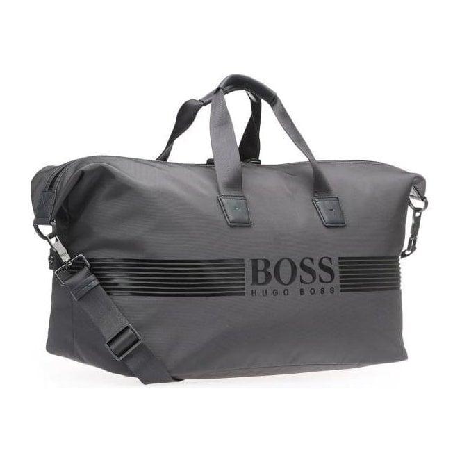 8f1f835a713 Boss Green Boss Green Pixel Holdall Bag in Dark Grey Chameleon Menswear