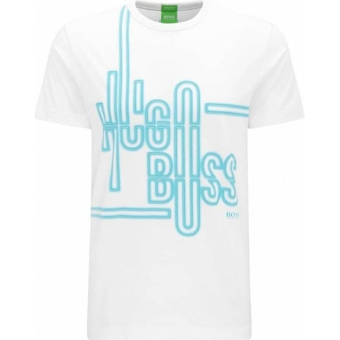 0659c54c32 Boss Green|Boss Green Tee 2 T-Shirt in White|Chameleon Menswear