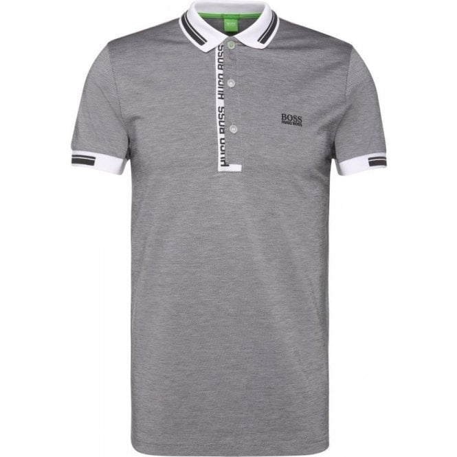 675e116d Boss Green|Hugo Boss Green Paule 4 Polo Shirt in Grey |Chameleon ...