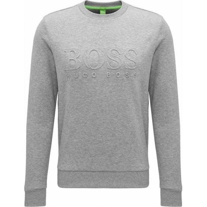 48fae79c8a Boss Green|Boss Green Salbo Sweatshirt in Grey|Chameleon Menswear