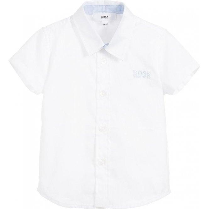 6d9211e58 Hugo Boss Kids|Boss Kids Short Sleeved Shirt in White|Chameleon Menswear