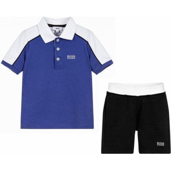 586f098a Hugo Boss Kids|Boss Kids 14-16 Years Polo and Shorts in Blue ...