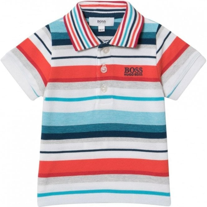 2-3 Years Stripe Polo Shirt in Multi-Colour 575a53eeaf9b