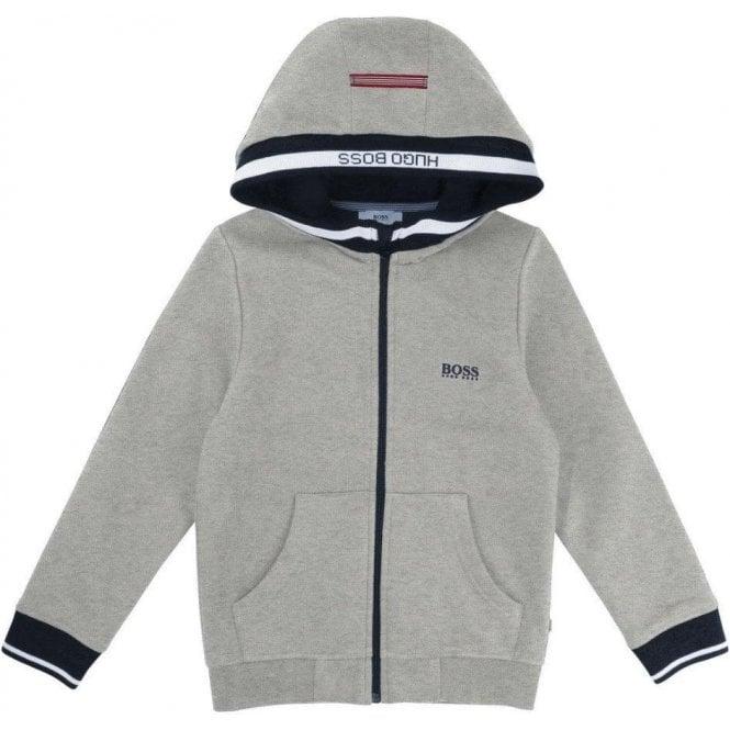 05616b4a17b8 6-12 Years Boss Zip Up Sweatshirt in Grey