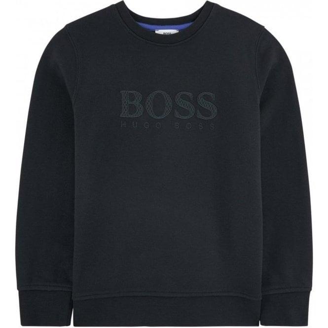 97c1c6160 Hugo Boss Kids|Boss Kids Chest Logo Sweatshirt in Black|Chameleon ...