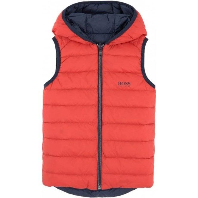 2be8f8d8954 Hugo Boss Kids|Boss Kids Body Warmer Coat in Navy Blue and Red ...