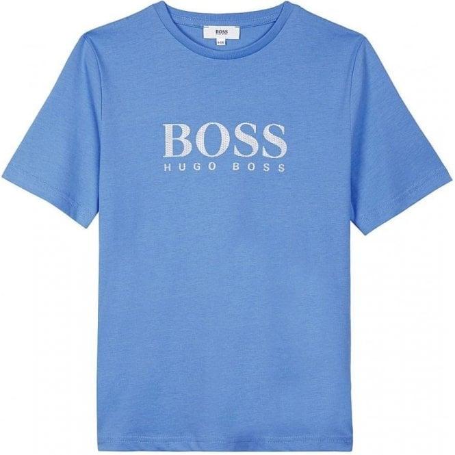 65d7d2fdc Hugo Boss Kids|Boss Kids Big Boss Logo T-Shirt in Baby Blue ...