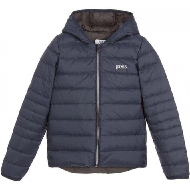 bb9c239346a BOSS* Boss Kids Big Kids Puffer Coat in Navy