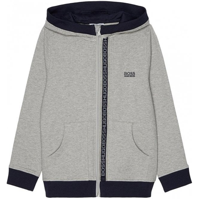 1cc93926db Hugo Boss Kids|Boss Kids Boss Hooded Sweatshirt in Grey|Chameleon ...