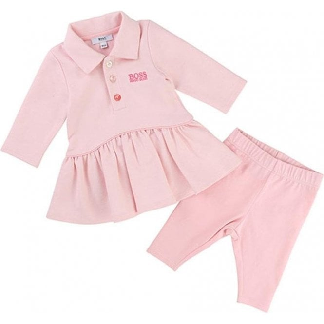 Boss Kids Girls Polo Top Dress and Leggings in Pink 6256c6bf9f