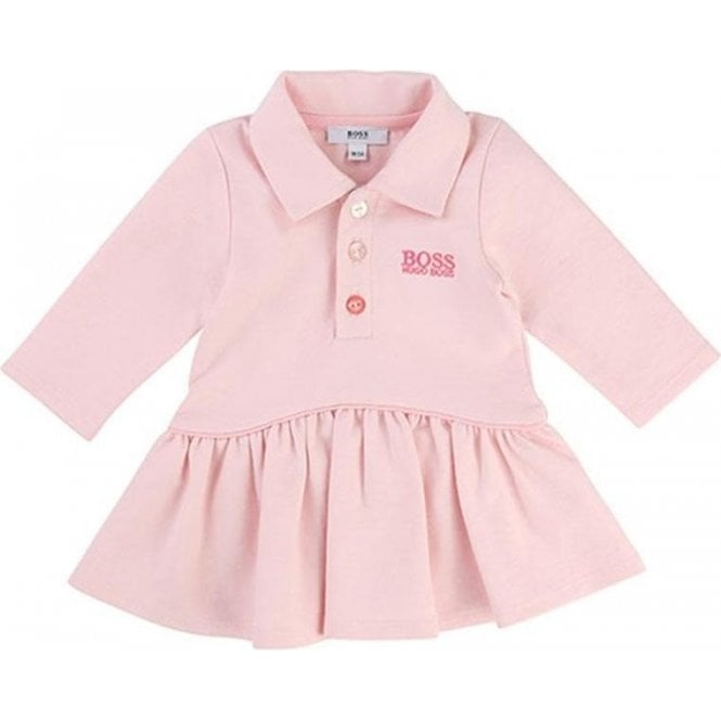 61f1d1206 Hugo Boss Kids Boss Kids Girls Polo Top Dress and Leggings in Pink ...