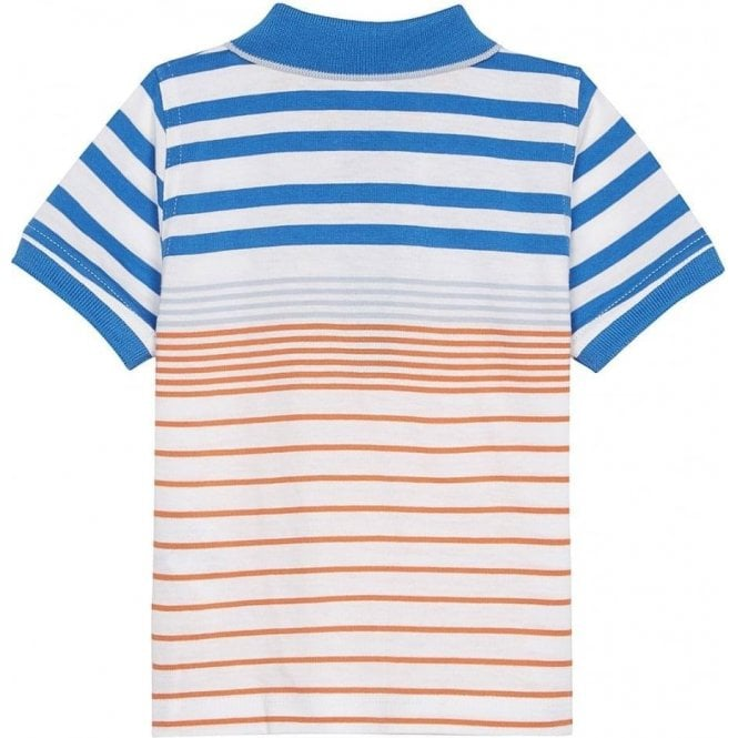 2aab7abe Hugo Boss Kids|Boss Kids Orange Stripe Polo Top in White|Chameleon ...