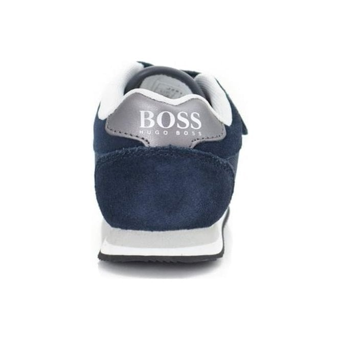 022059c4ee646 Boss Kids Strap Trainers in Navy
