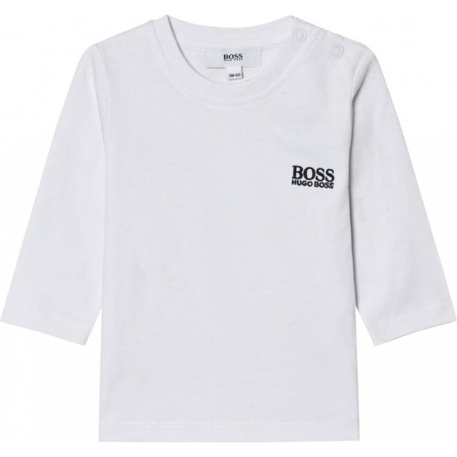 0f8afd85d8e0 Boss Kids T-Shirts Long Sleeve Tee in White