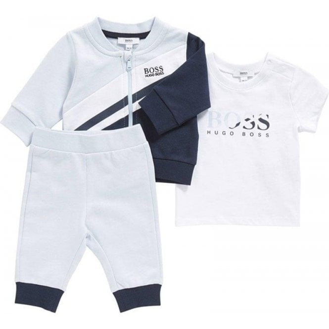 100e9c75bf4 Hugo Boss Kids|Boss Kids Tracksuits Tracksuit Set in Baby Blue ...