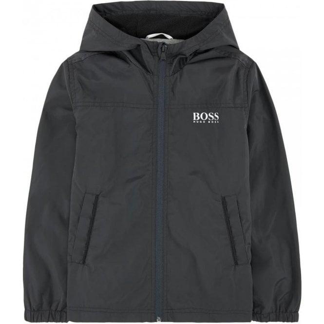 f6ec9141fafa2 Hugo Boss Kids|Boss Kids Windbreaker Coat in Dark Grey|Chameleon ...