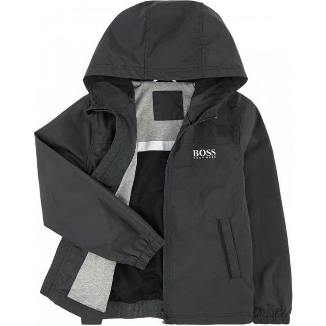 1996e247e6 Hugo Boss Kids|Boss Kids Windbreaker Coat in Dark Grey|Chameleon ...