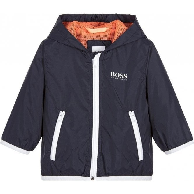 6111c2b660 Hugo Boss Kids|Boss Kids Windbreaker Coat in Navy|Chameleon Menswear