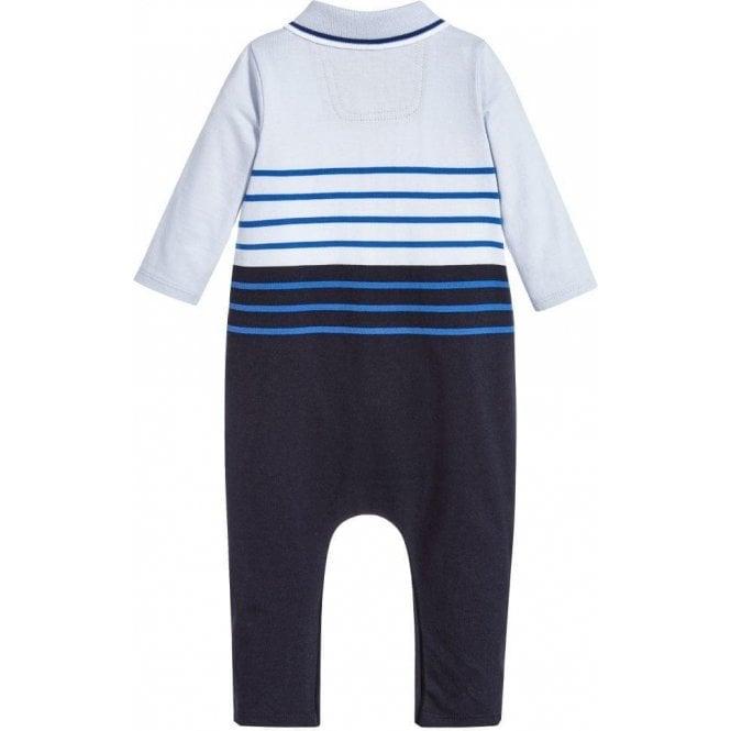 8bc50215c Hugo Boss Kids Boss Kids Polo Collar Pyjamas in Baby Blue Chameleon ...