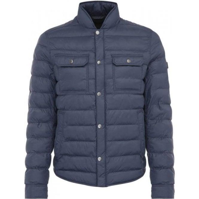 173312c7894 Boss Orange Orin Coat in Dark Blue