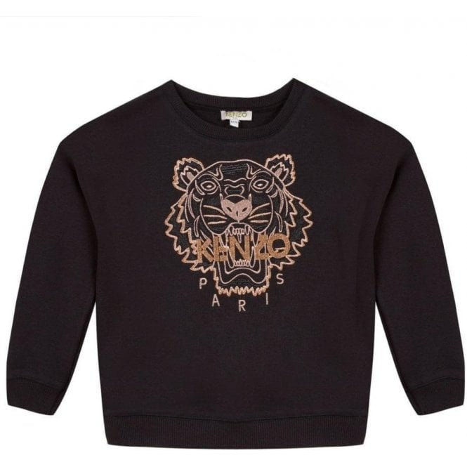 8ab2ddc6 Kenzo Kids|10-12 Years Tiger Sweatshirt in Black|Chameleon Menswear