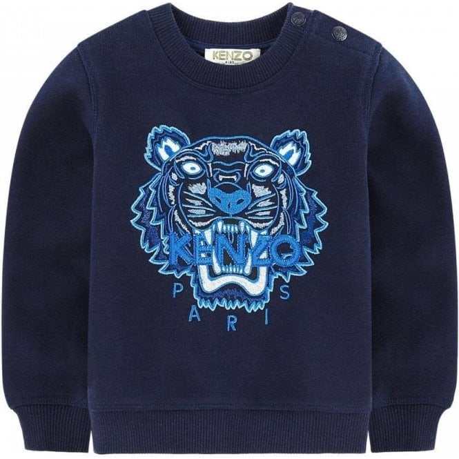 31753e2f9 10-12 Years Tiger Sweatshirt in Navy